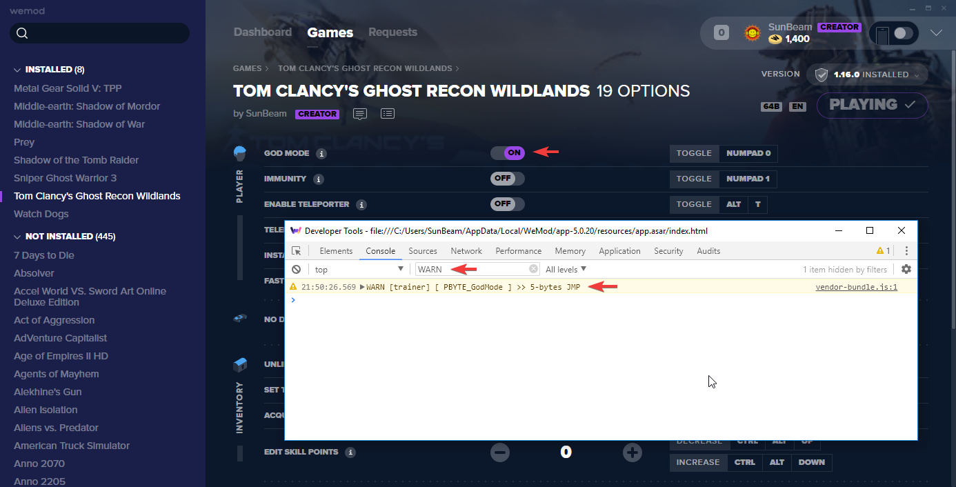Tom Clancy's Ghost Recon Wildlands Cheats and Trainer for Uplay