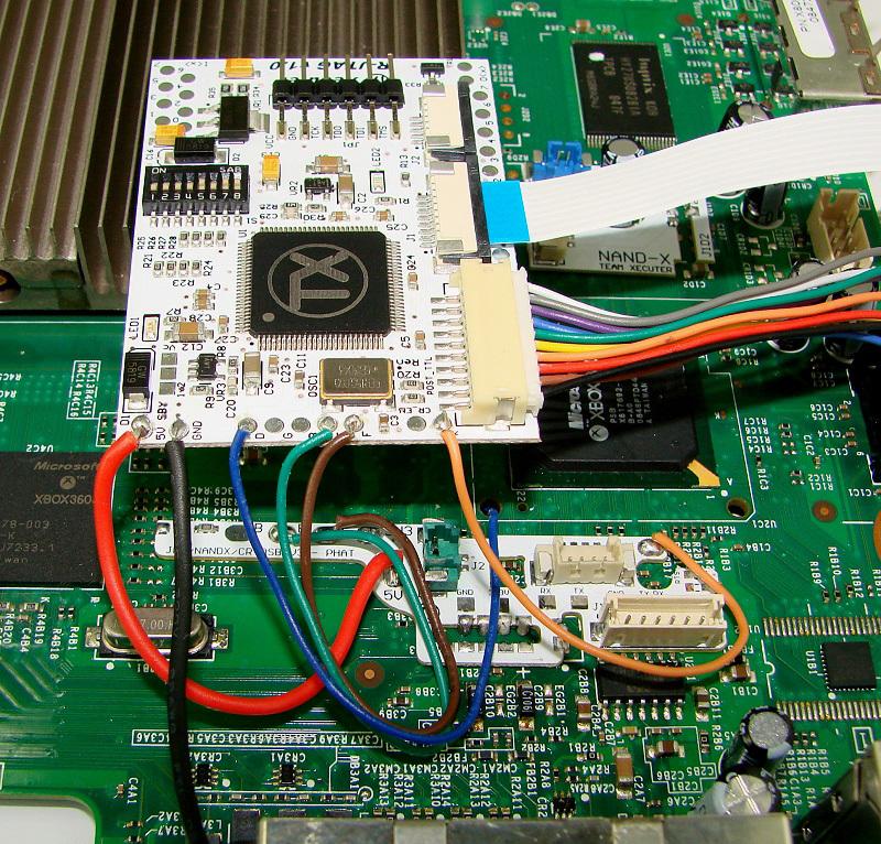 xbox 360 slim fan wiring diagram xbox 360 r jtag wiring diagram