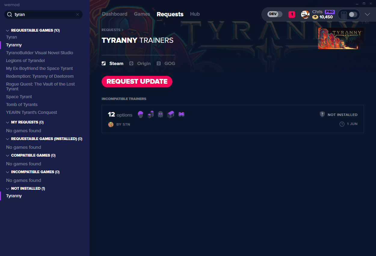 Tyranny Cheats and Trainers for PC - WeMod
