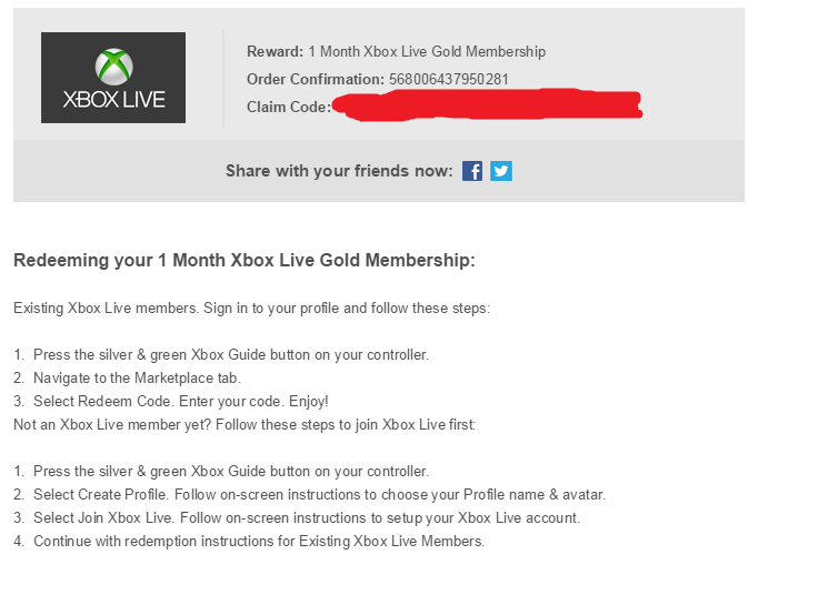 1 Month Xbox Live Gold Membership Code Giveaway - Deals +