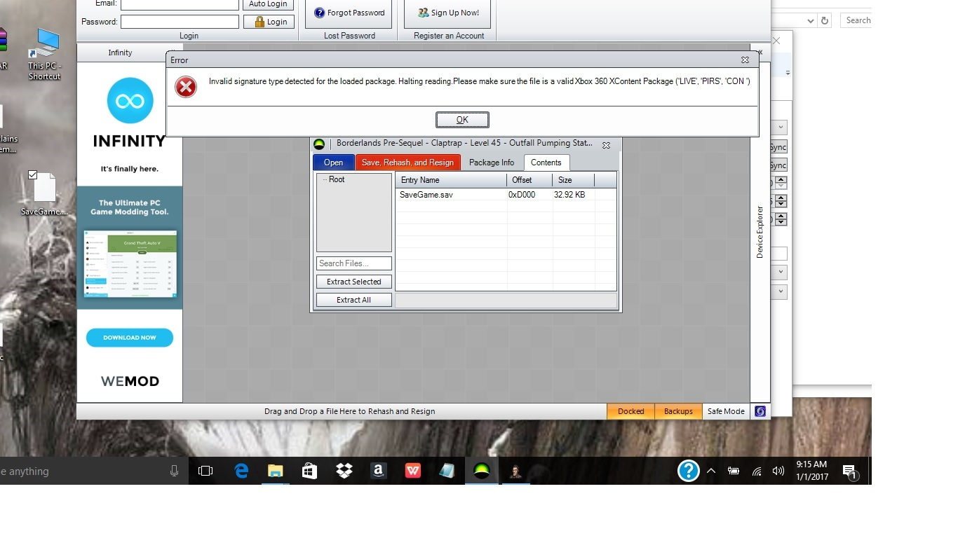 Horizon not replacing file but says file replaced successfully and