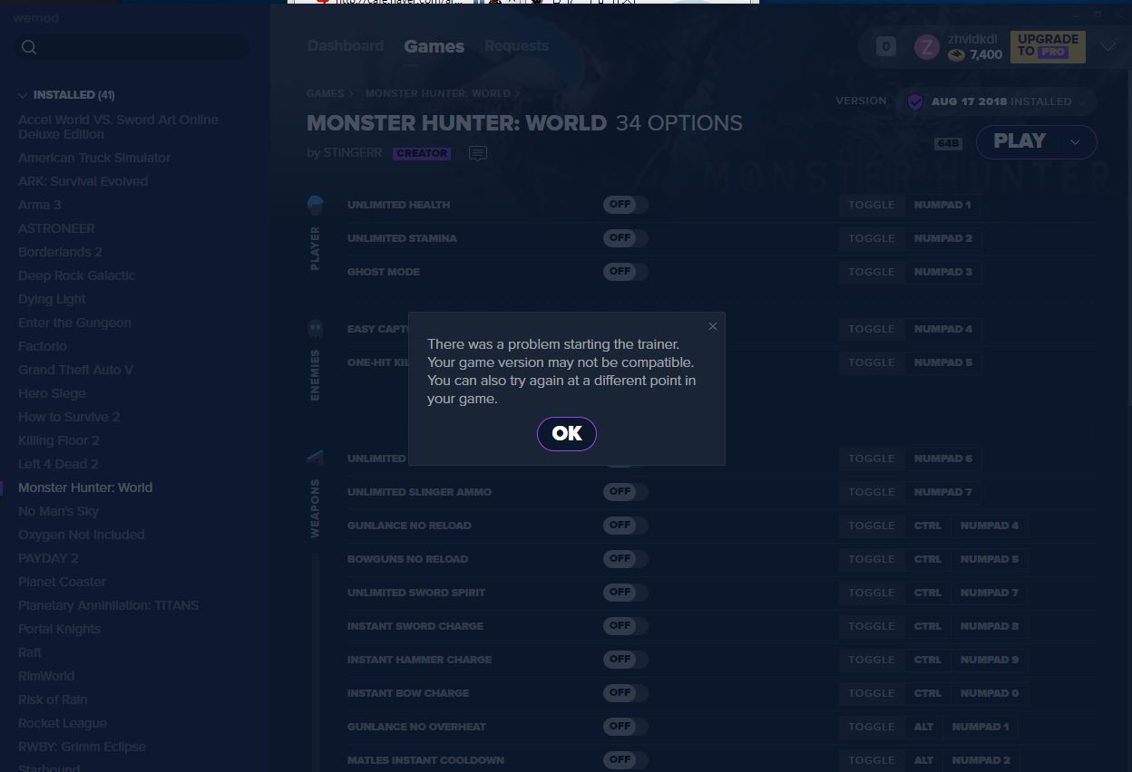 Monster Hunter: World Cheats and Trainer for Steam - Trainers