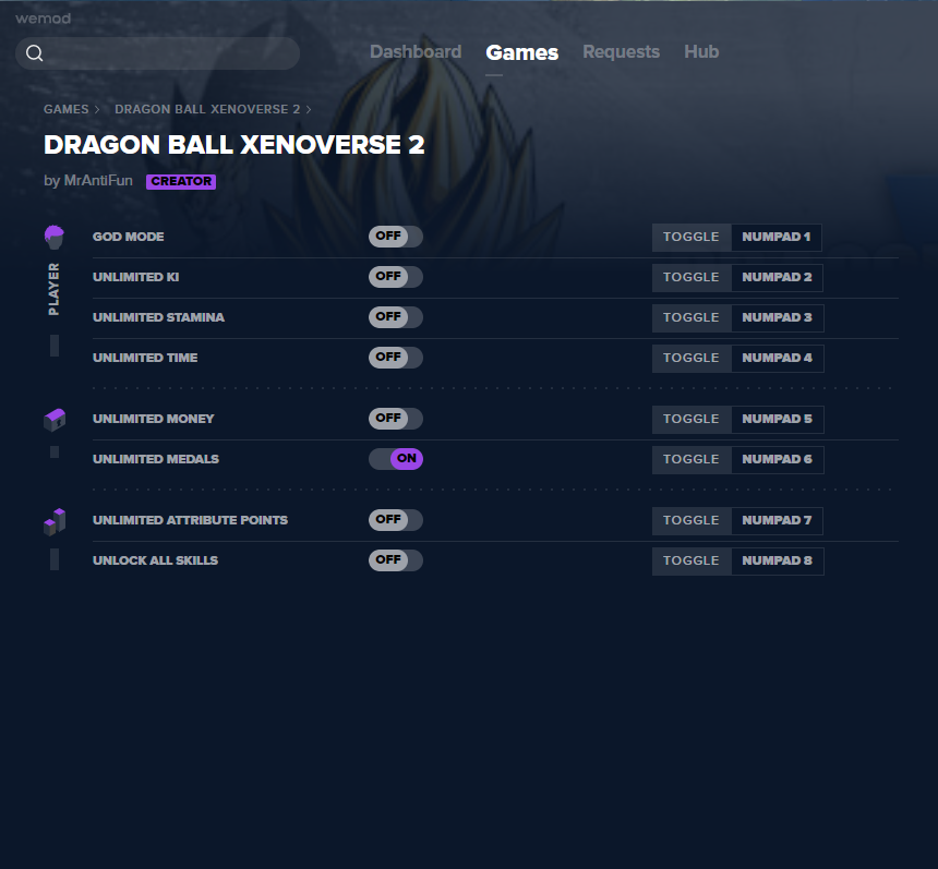 DRAGON BALL XENOVERSE 2 Cheats and Trainers for PC - WeMod