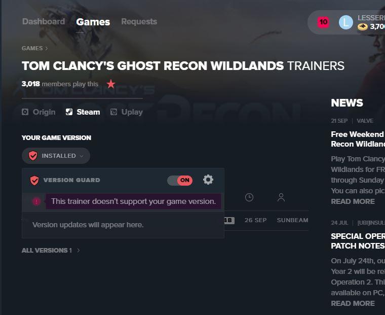 Tom Clancys Ghost Recon Wildlands Trainer Trainers Wemod Community