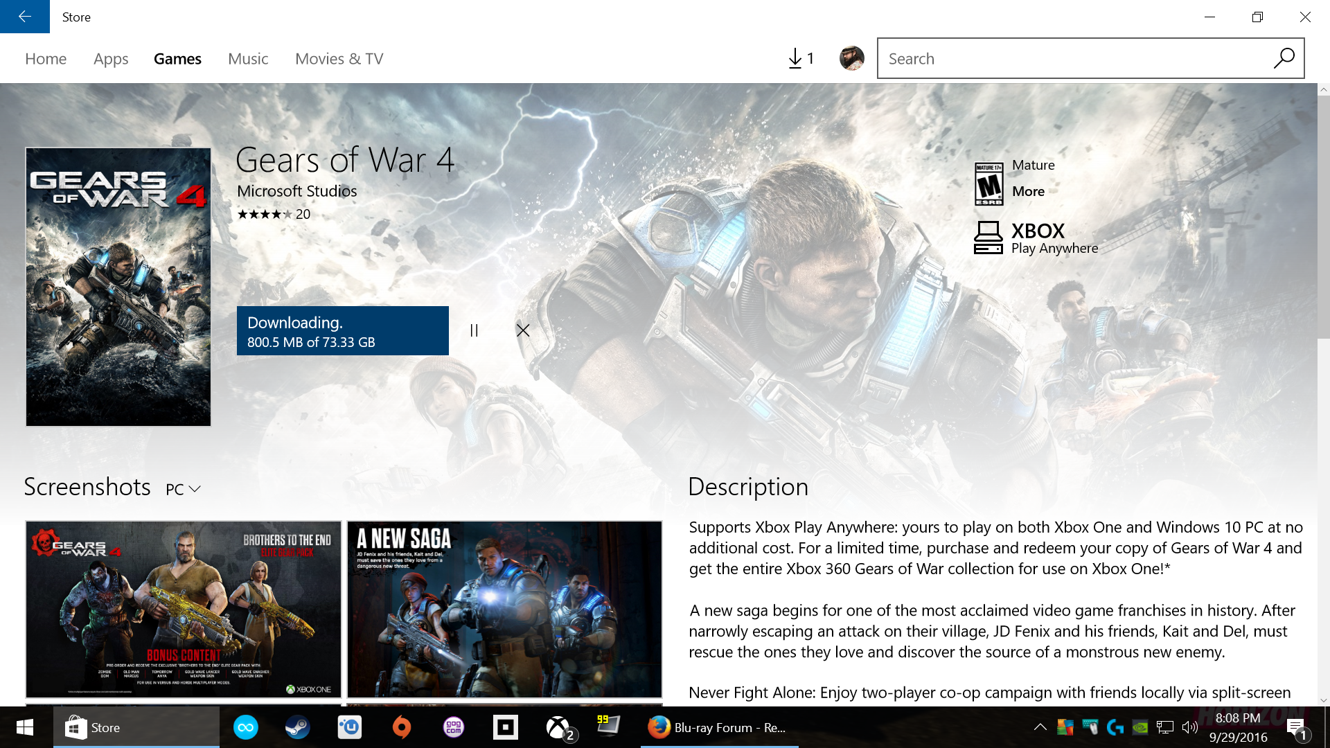 Gears of War 4 Specs - PC Gaming - WeMod Community