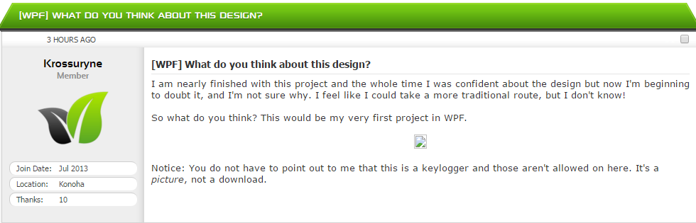 WPF] What do you think about this design? - PC General